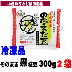 300g×2袋 冷凍 そのまま黒えだ豆 北海道中札内村産