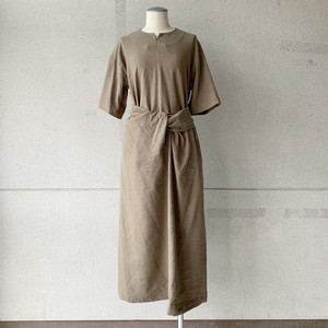 【COSMIC WONDER】Silk & Linen wrapped dress/13CW17249