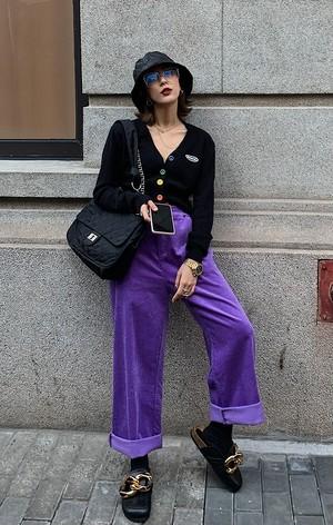 コーデュロイボーイフレンドパンツ(Purple,Blue) 14060