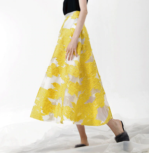 See-through flower long skirt シースルー 花柄 ロング スカート