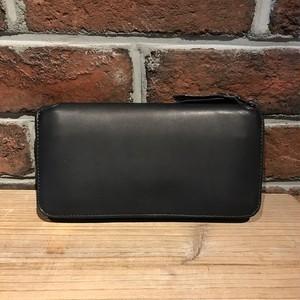Round Zipper Long Wallet TYPE2 Matt Black
