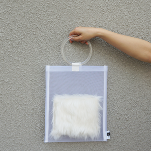 anti clone『hard tulle bag  WH/ホワイト』
