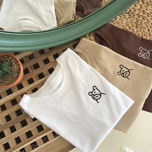 【お取り寄せ商品】シンプルベアーTシャツ 6843