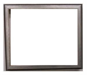 アンティークおしゃれフレームA-60041黒/銀(側面黒) 額縁寸法インチ(254mm×203mm)2mmアクリル/裏板/箱付き/完品
