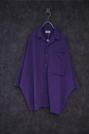 Nora Lily Dolman Half Sleeve Over size Shirt -purple
