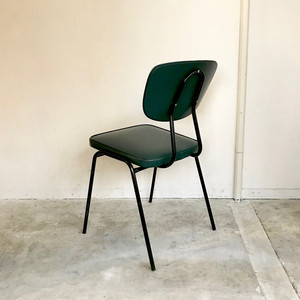 D.Green × Black Kitchen Chair 1960's オランダ