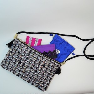 限定受注 chanel tweed pochette