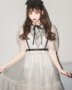 【ManonMimie】Harness Dot Tulle Dress
