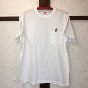 3107 pocket tee white
