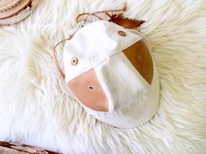 Leather/Feather DEER CAP c/#KINARI【M58】