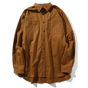 brushed face relax shirt(camel)