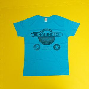 BungelingBay Tシャツ(ライトブルー×黒字3点ロゴ)