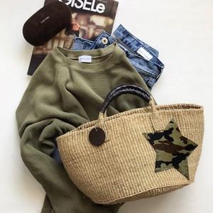 Star Bag / カモフラージュ柄 スターハラコ / ML / ベージュ