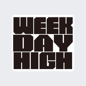 WEEKDAY HIGH ロゴステッカー