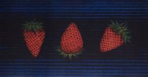 【プレゼント付き】加山又造 「三つの苺」 銅版画(メゾチント、ドライポイント) ED95部