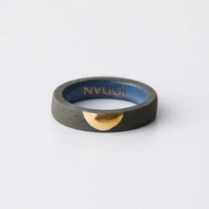 JODAN. aroma ring___Dark Gray(half moon)香りを染み込ませるアロマリング