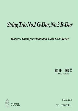 F0002FR String Trio No.1 G-Dur, No.2 B-Dur(Violin, Viola and Violoncello/A. FUKUDA /Full Score)
