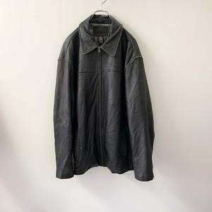 レザージャケット ブラック size L メンズ 古着