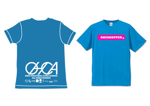 OHCAHOPPERS Tシャツ ターコイズブルー×ピンク 010(NEW)