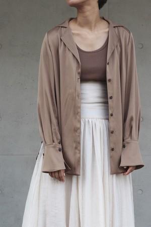 【eicayoshinari】crepe satin bl-brown