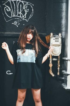 《お取り寄せ商品★ご注文から2週間ほどで発送予定》fairy and teddy オーバーサイズTシャツ (黒)