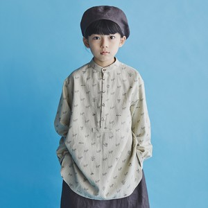 GRIS 21SS Band Coller Pullover Shirts S/Mサイズ (Beige×Charcoal) [GR21SS-SH008]