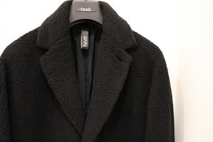 hevo Chesterfield Coat Black Boa