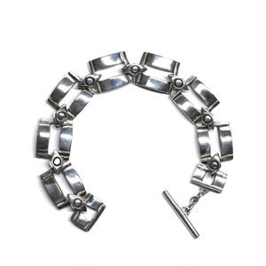 Lisa Jenks Sterling Silver Square Chain Bracelet