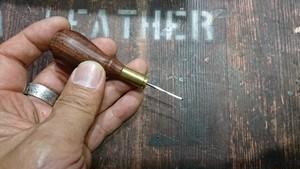 駒合わせ縫い専用フラットオウル/Flat Awl type Bullet