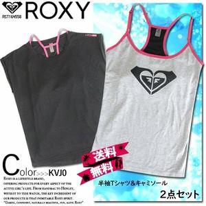 RST164558 ロキシー 人気ブランド 送料無料 2点セット Tシャツ 半袖 キャミソール セット レディース ヨガ トップス 吸汗速乾 ROXY