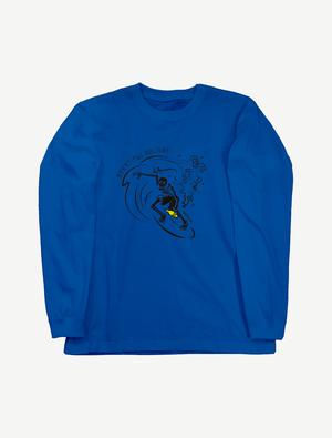 【サーフィンガイコツ】ロングスリーブTシャツ(ロイヤルブルー)