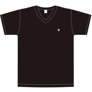 胸刺繍ワンポイント VネックTシャツ