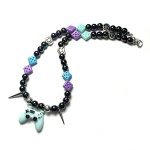 SAD44mg「 Game Blue 」Handmade Necklace