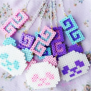 【Apps and Beads】ちゃいなぱんだネックレス(ふわふわパステル)