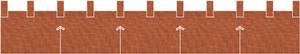 麻糸風カウンター用防炎のれん:みかん茶色