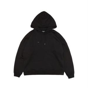 D-shoulder Heavy Hoody_black オーバーサイズパーカ ブラック