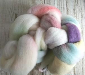 手染め羊毛 レインボー染め コリデール  1109