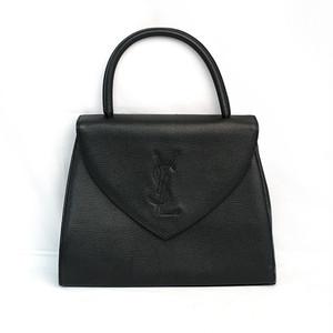 Yves Saint Laurent/イヴサンローラン YSLステッチハンドバッグ ブラック(H21493)