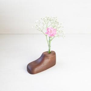 一輪挿し(靴) | ウォールナット
