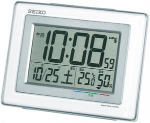 SEIKO電波デジタル目覚まし時計 白 SQ686W