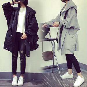 【アウター】韓国ファッションゆったり快適なbfキャンパストレンチコート