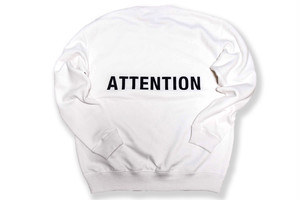 【BIG LOGO sweat】 / ATTENTION 白