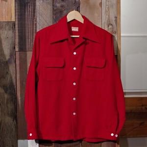 """1940s """"McGREGOR"""" Box Style Wool Shirt / 40年代 ヴィンテージ マックレガー ループカラー ウールシャツ"""
