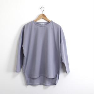 裾スリットカット&ソー / 水色×白のストライプ