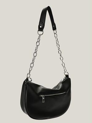 【UNISEX】SHOULDER CHAIN BAG / Black