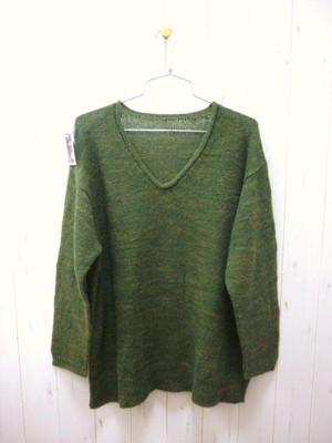 SALE!! Baby Alpaca Ladies V-Neck Sweater/Peru Knit (ベビーアルパカ レディス Vネックセーター/ペルーニット)
