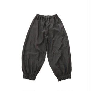 リネン*裾絞りパンツ*黒