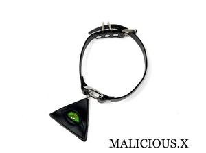 reptiles eye ring choker / green