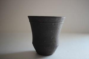 小林耶摩人(恵山)|カップ(大)黒釉
