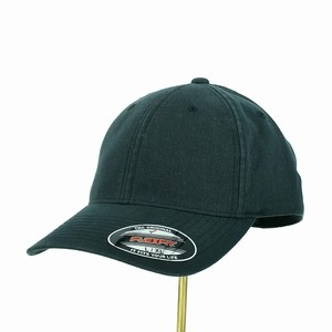 6745AG Flexfit BLACK Garment Washed Cotton Dad Hat